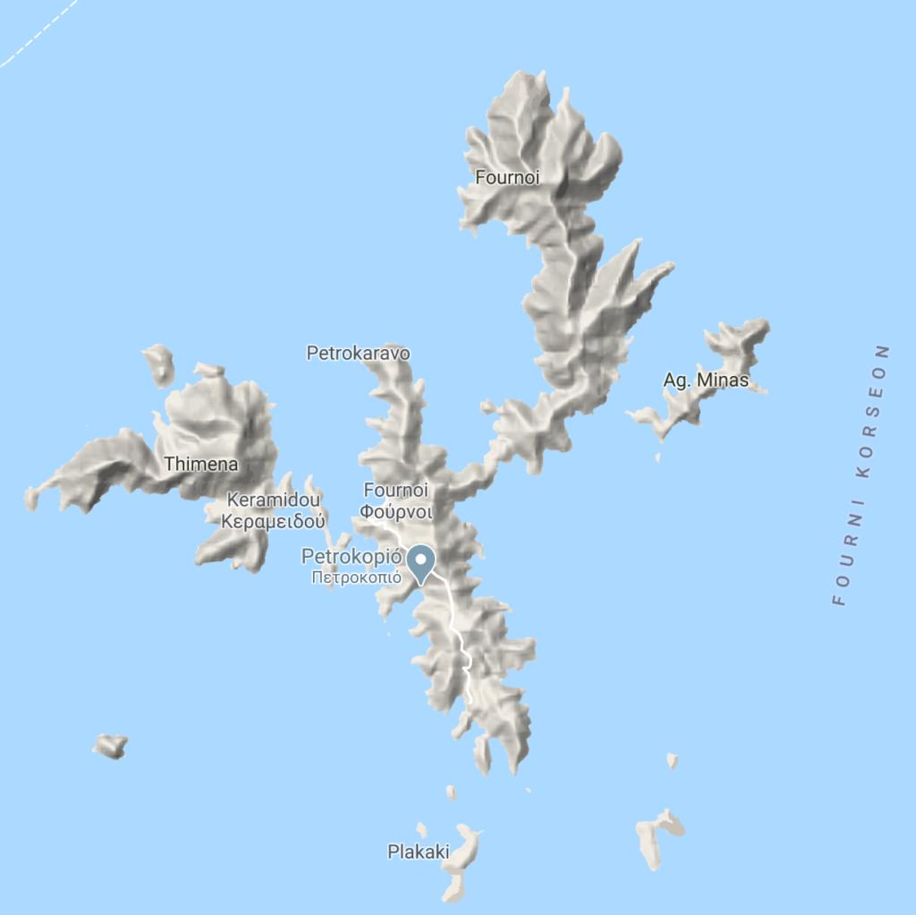 Map of Fornoi  archipelago