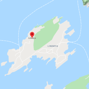Map of Lindøya, Oslo fjord